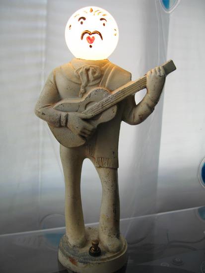"""""""Mr. Bulb"""" Guitar Player Lamp"""