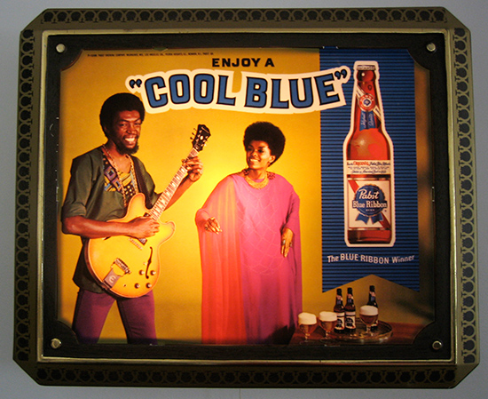Pabst Cool Blue Lighted Sign